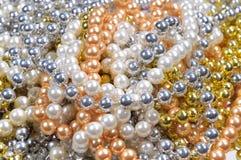 背景珍珠 免版税库存照片