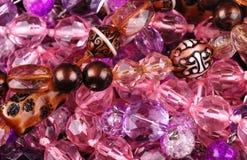 背景珠宝粉红色 库存照片
