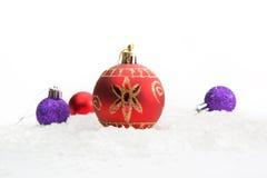 背景球圣诞节复制例证空间三白色 免版税图库摄影