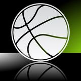 背景球篮球查出的白色 免版税库存照片