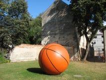 背景球篮球查出的白色 免版税库存图片