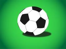 背景球绿色足球 免版税库存图片