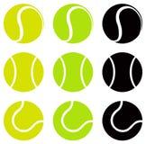 背景球鲜绿色的同类的位置更多一网球 库存例证