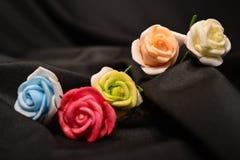 背景瓣玫瑰色玫瑰华伦泰婚礼 库存照片