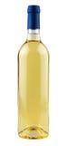 背景瓶查出白葡萄酒 免版税库存图片