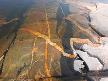 背景生动矿物的海运 图库摄影