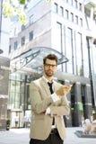 背景生意人查出的纵向空白年轻人 库存照片