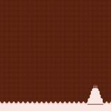 背景生日蛋糕粉红色 免版税图库摄影