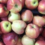 背景用新鲜的红色苹果 图库摄影