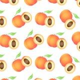 背景用水多的桃子,整个和半 皇族释放例证