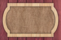 背景由木板条做成 库存图片