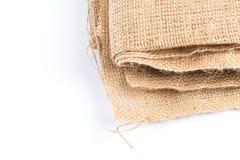 背景由老麻袋布制成 免版税库存图片