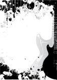背景电吉他海报 库存例证
