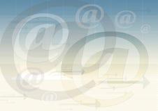 背景电子邮件符号 皇族释放例证