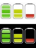 背景电池图标查出的白色 库存照片