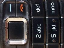背景电池老电话 图库摄影