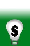 背景电灯泡光 向量例证