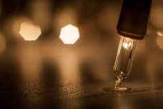 背景电灯泡圣诞节defocused图象光 详细的宏指令 免版税图库摄影