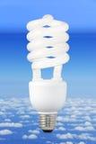 背景电灯泡现代气候的光 图库摄影
