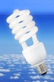 背景电灯泡现代气候的光 免版税图库摄影