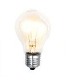 背景电灯泡白色 免版税库存照片