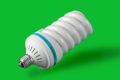 背景电灯泡经济绿灯身分 库存图片