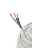 背景电缆电子白色 免版税库存照片