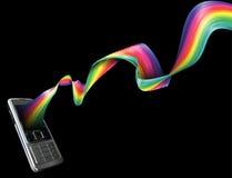 背景电话彩虹 图库摄影