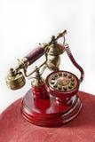 背景电话红色集合葡萄酒白色 免版税库存图片