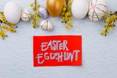 背景男孩逗人喜爱的复活节彩蛋蛋新草绿色隐藏的搜索查出搜索白色 库存图片
