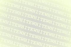 背景白色字 免版税库存照片