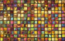 背景的五颜六色的马赛克墙壁 免版税库存图片