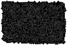 背景由各种各样的大小黑色长方形w做成 免版税库存照片