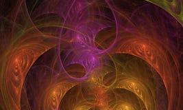 背景的分数维发光的抽象 向量例证