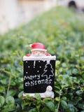背景的圣诞节装饰 免版税库存照片