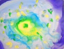 背景的抽象五颜六色的水彩 图库摄影