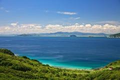 背景的海岛 库存图片