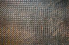 背景的生锈的钢墙壁 免版税库存照片
