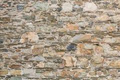 背景的老石头和灰浆墙壁 免版税图库摄影
