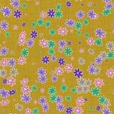 背景的花卉帆布 免版税库存图片