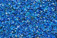 背景的蓝色矽土凝胶 库存照片
