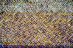 背景的被编织的藤条样式 免版税库存照片