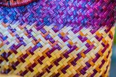 背景的被编织的藤条样式 库存照片