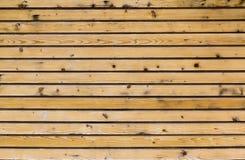 背景的黄色木板条 自然纹理 免版税库存图片