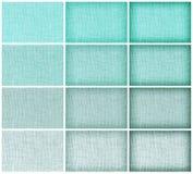 背景的,蓝色颜色汇集自然麻袋布纹理 免版税库存照片