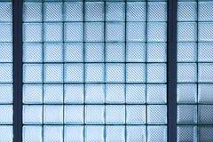 背景的玻璃立方体块墙壁 免版税图库摄影