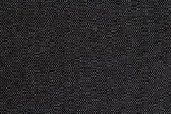 背景的黑自然亚麻制纹理 免版税库存照片