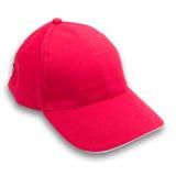 背景盖帽查出的红色 图库摄影