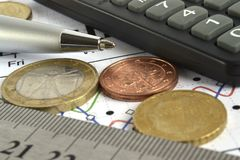 背景看板卡关闭赊帐财务视图 库存照片