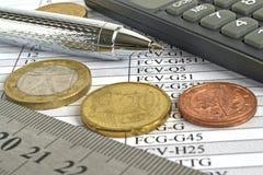 背景看板卡关闭赊帐财务视图 免版税图库摄影